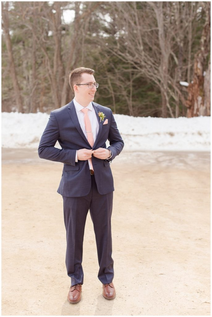 Emily and Nick were married at Stone Mountain Arts Center. Click here to see more wedding images by Linda Barry Photography. Groom portraits.