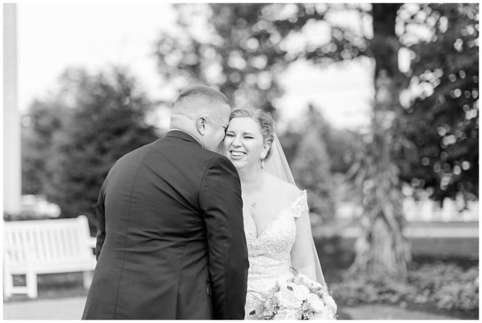Juli + Chris had their intimate wedding in the fall at The Farm Table in Bernardston MA. Photos by Linda Barry Photography.
