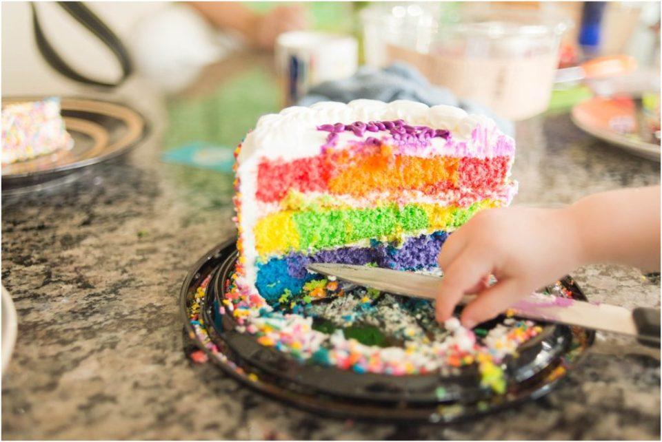 tie dye birthday cake!