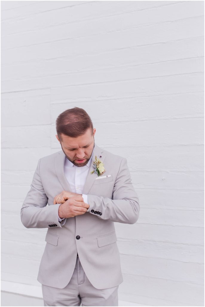 Alex makes a handsome groom! Styled wedding shoot photos by Linda Barry Photography.