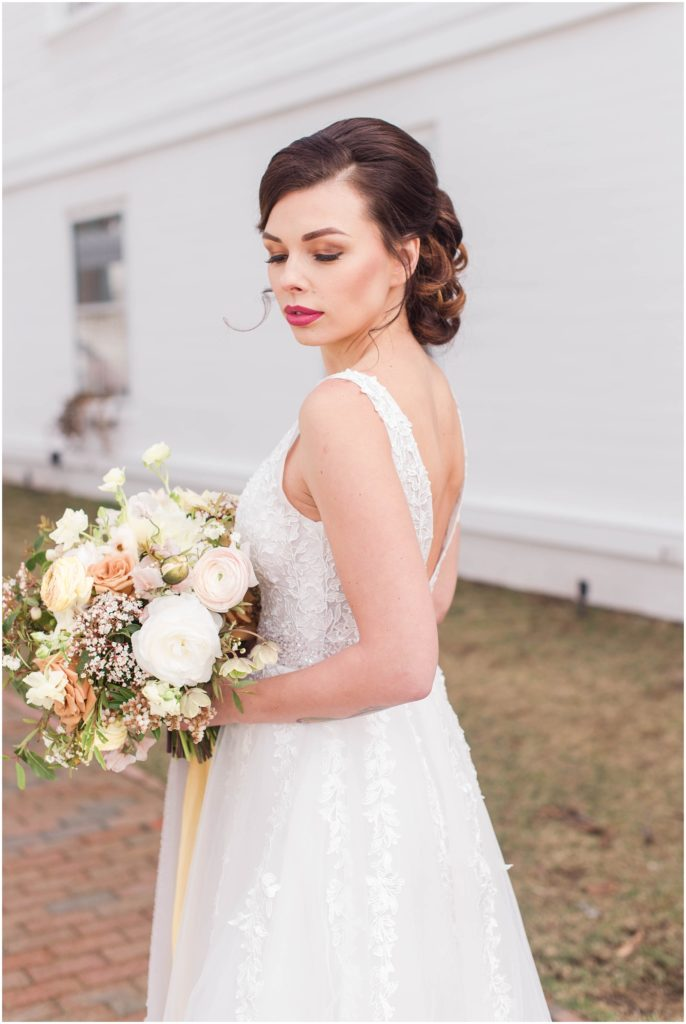 Iryne is so stunning with this gorgeous dress and amazing bridal bouquet!