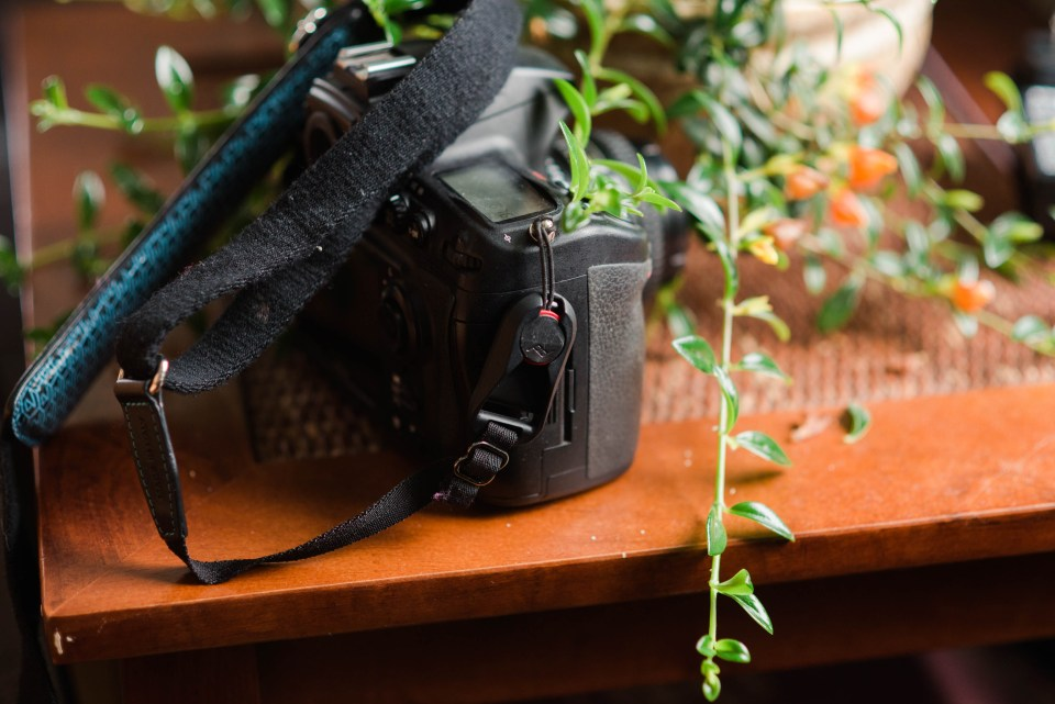 I use peak design for my camera strap system. This is how it looks with a camera strap attached to it.