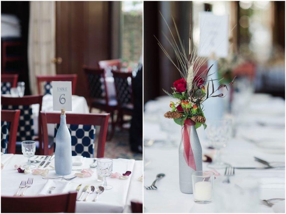 Table shots at this fall wedding at the Dan'l Webster Inn.