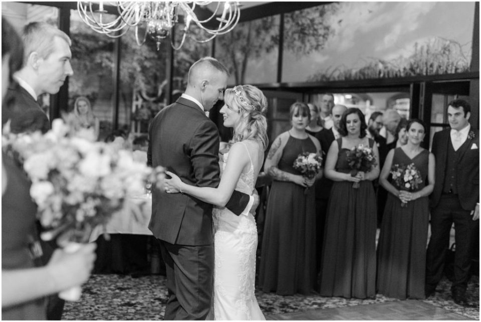 Bride and groom's first dance at the Dan'l Webster Inn.