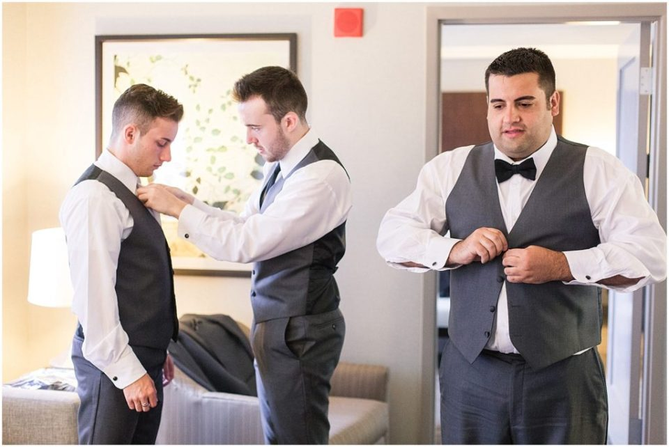groom prep at the hotel.