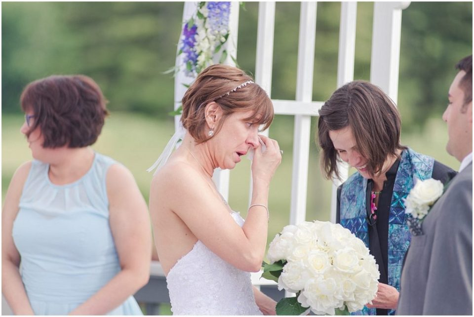 Kellie was very emotional during the ceremony.