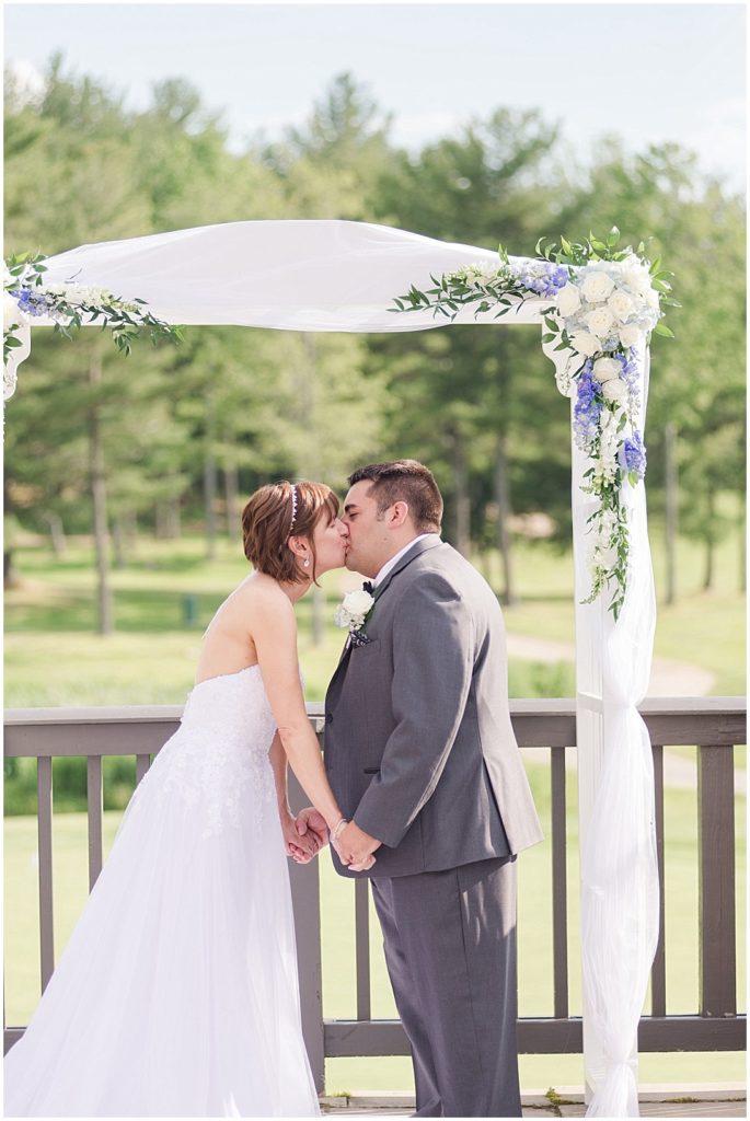Kellie + Justin's first kiss!