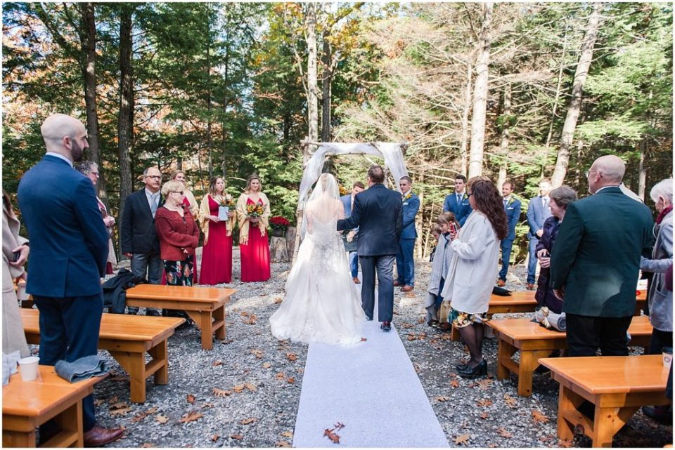 Outdoor ceremony at the Granite Ridge Estate and Barn.