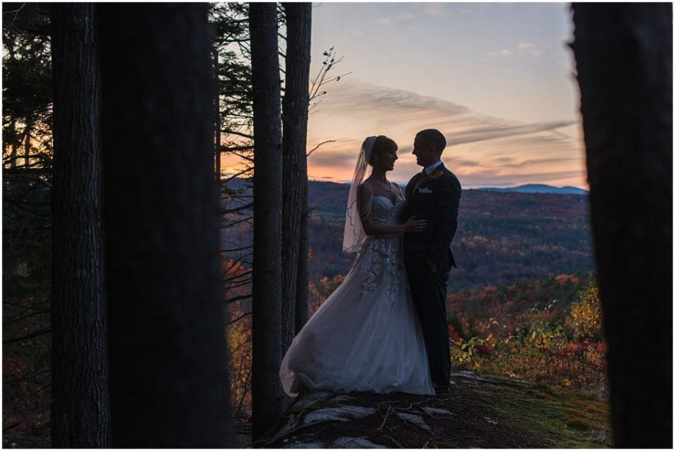 Sunset photo at Granite Ridge Estate wedding