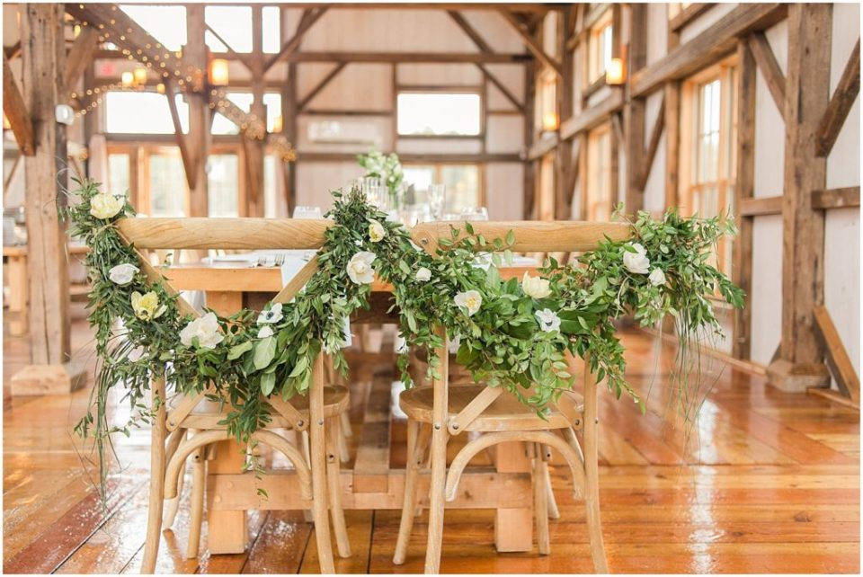 Sweetheart table for the Valley View Farm wedding.