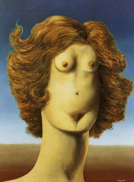 """Rene Magritte, """"Le Viol"""" (1935"""