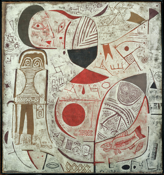 """Paul Klee, """"Printed Sheet with Pictures"""" (1937)"""