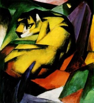 "Franz Marc, ""Tiger"" (1912)"