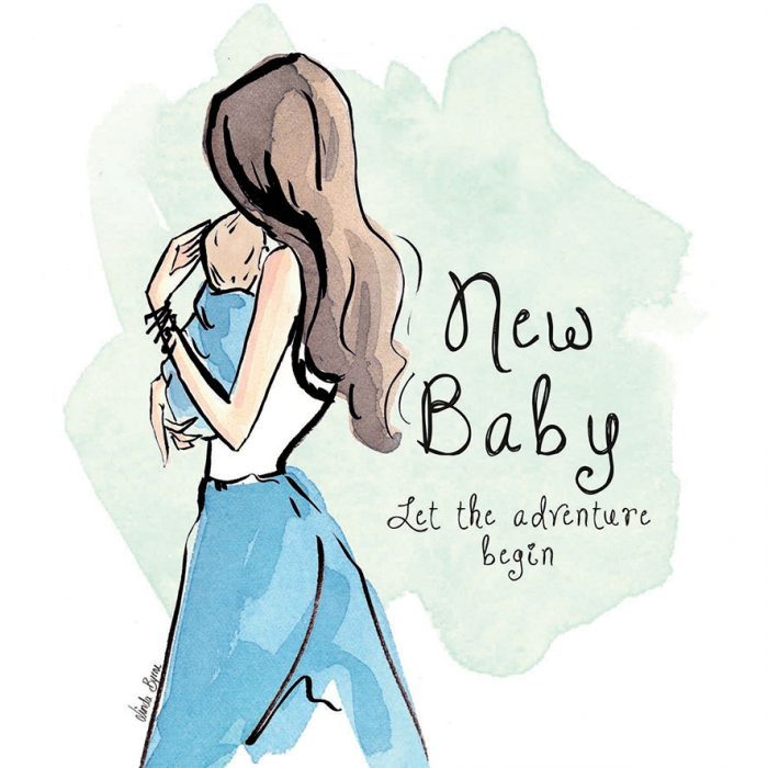 New baby blue greeting card linda byrne illustration greeting card linda byrne illustration linda byrne fashion new baby greeting card m4hsunfo