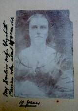 1861. Earliest known photo of Elizabeth Matthews aged 19.