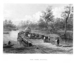 The River Punt Echuca 1870's