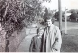 My mother, Gladys Cairnes and self about mid 1960 standing on the corner of Raglan and east side of Muston St.
