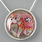 Elephant-Silver-Moon-Pendant