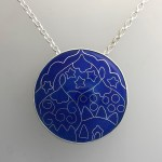 Mystical Domes Cloisonné Enamel necklace