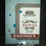 A1173 Best Dad Ever Card WM