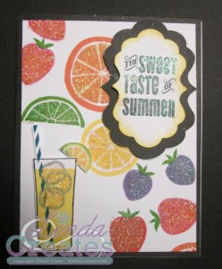 The Sweet Taste of Summer Card National Scrapbooking Month Linda Creates ~ Linda Caler www.lindacreates.com