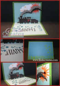 Cricut Train Card Linda Creates - Linda Caler www.lindacreates.com