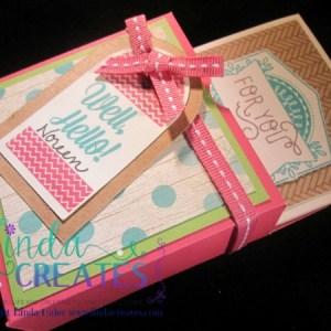 Bandaid Box and cards, convention gifts, linda creates ~linda caler,