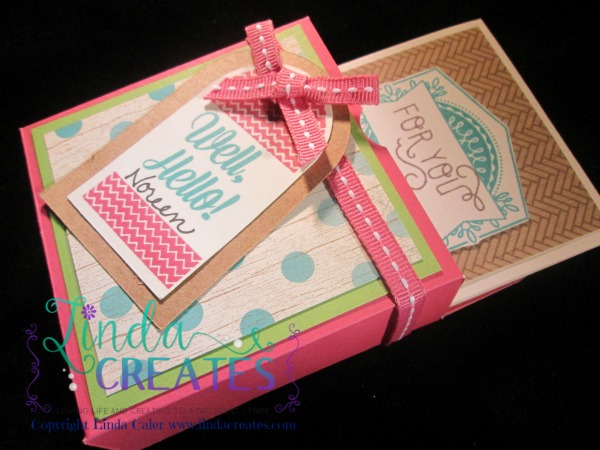 Bandaid Box and cards, convention gifts, linda creates ~linda caler,