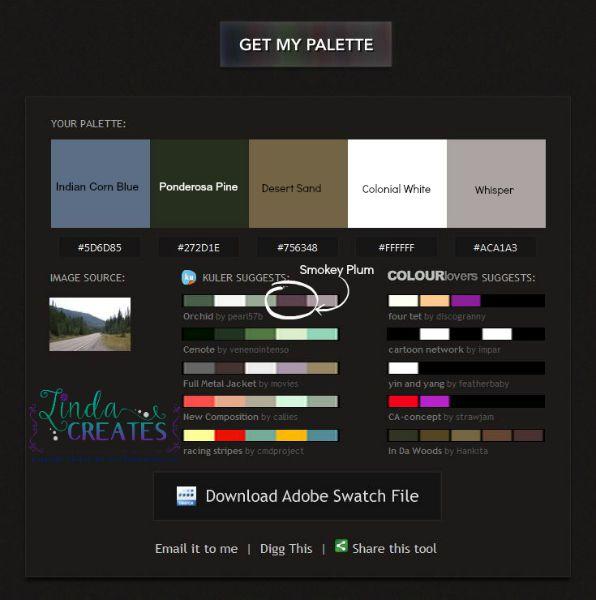 5304 color palette marked