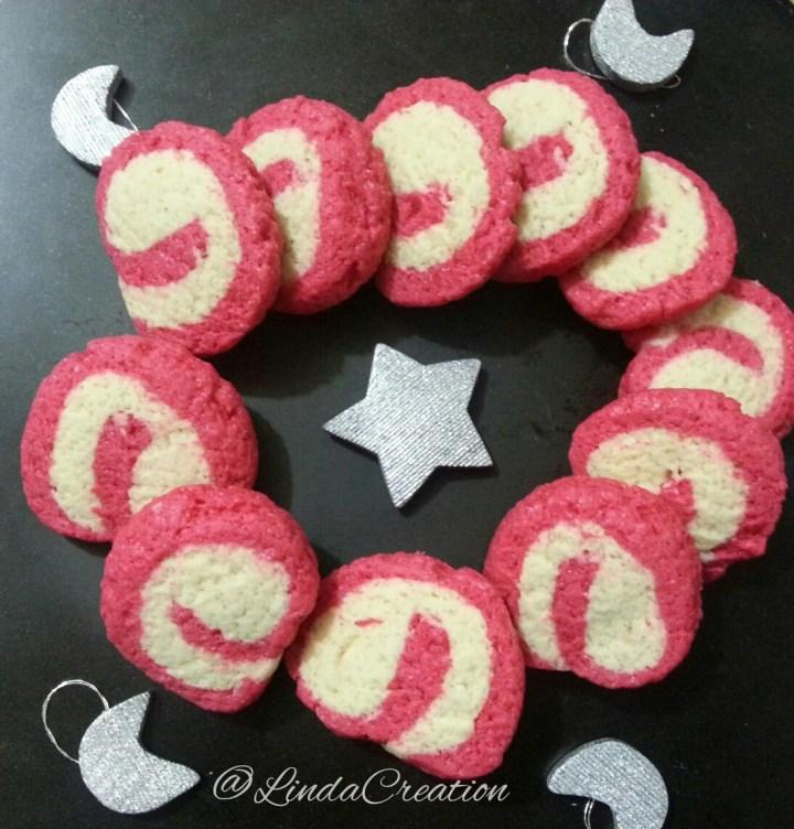 Red & White Christmassy Pinwheel Cookies