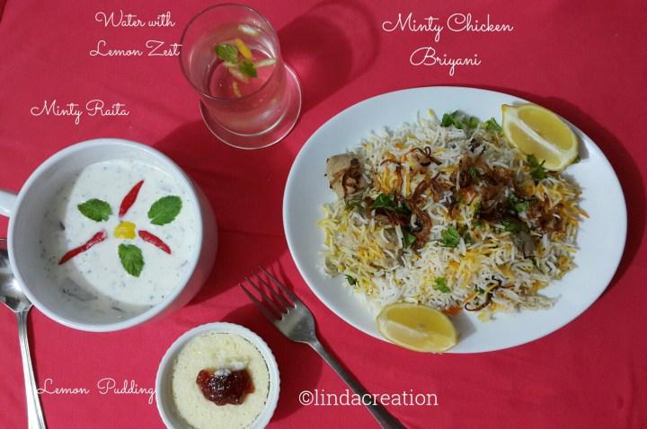 Minty  Chicken  Briyani