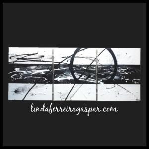 Tableau abstrait contemporain triptyque réalisé à la main