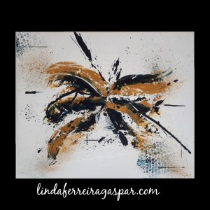 Tableau abstrait contemporain réalisé à la main