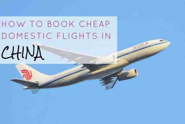 How To Book Cheap Domestic Flights in China