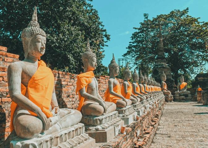 Buddha Statues in Ayutthaya