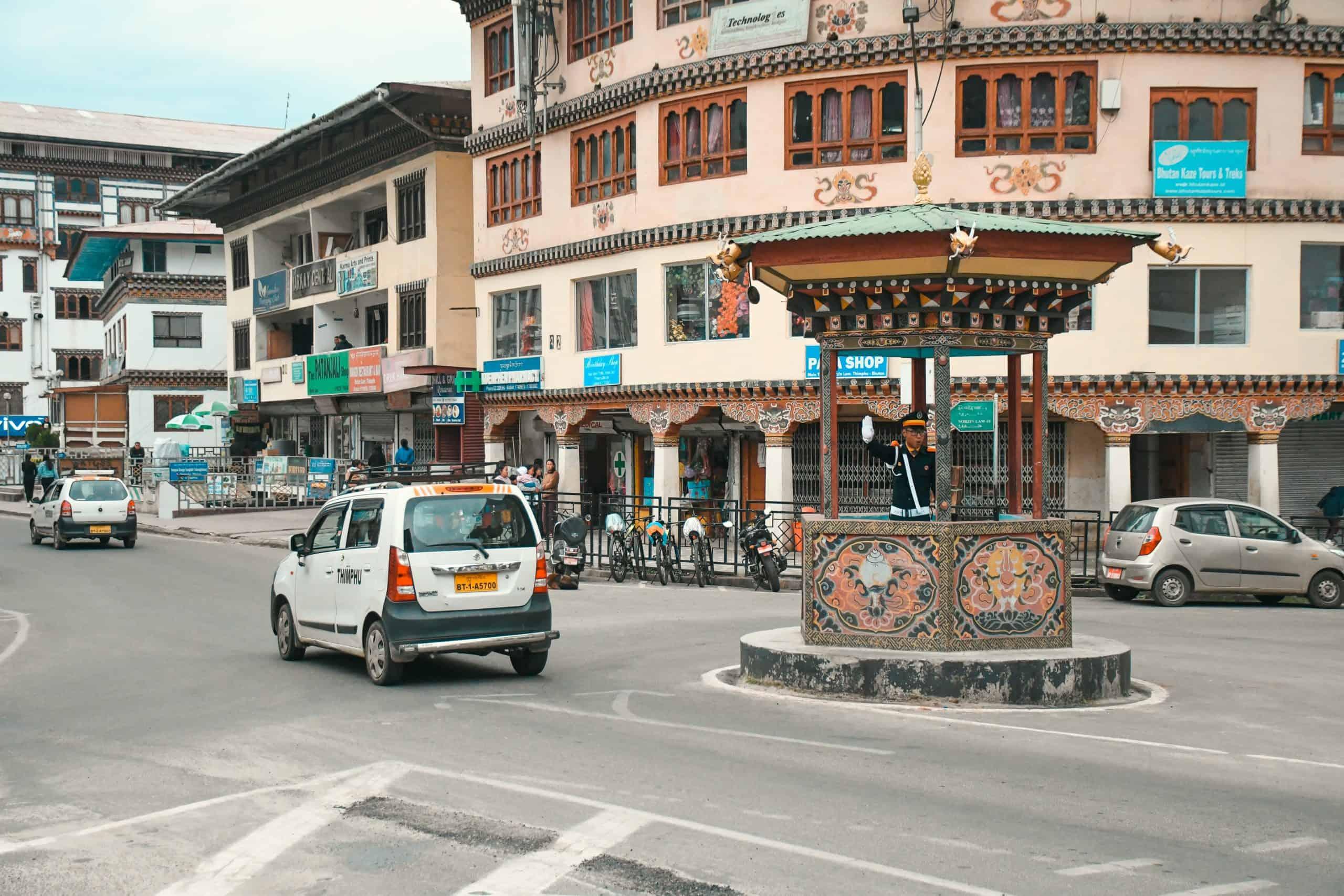 traffic light in Bhutan