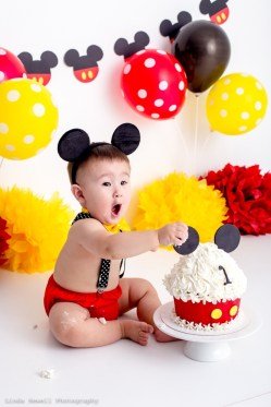 1st birthday cake smash Perth photography studio 012