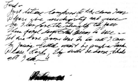 Elvis' handwritten poem The Garden bottom part