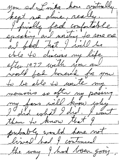 Jesse's letter for the book...some of the reasons why...