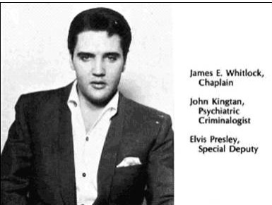 Elvis' badge documernt 1975