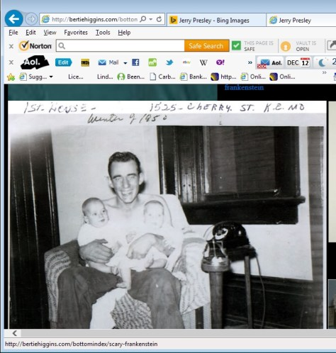 Jerry Presley's father with Jerry and Terry in 1950