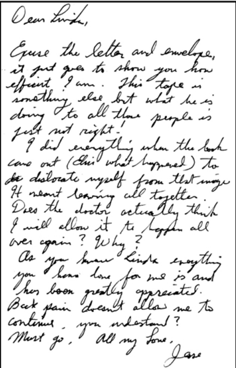 Jesse's letter July, 2002 not coming out