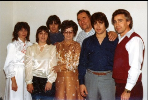 Jerry Presley and family with his father around the 1970's