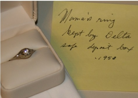 Jesse's mother's ring kept in safe deposit box by Aunt Delta view 2