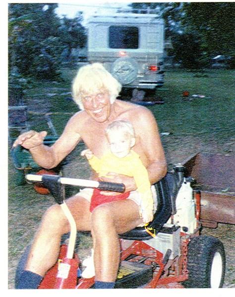 Elvis with grandson, 1994 new scan June 26, 2015