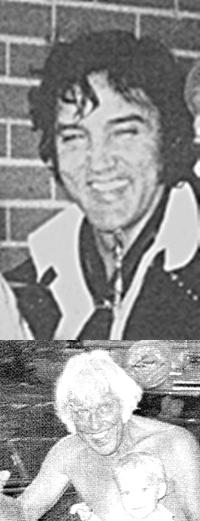Elvis July 1974 and Jesse 1994