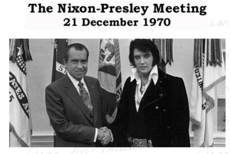 The Nixon Presley Meeting photo