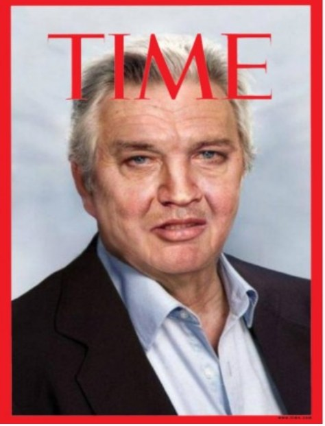 FAKE front cover of TIME magazine