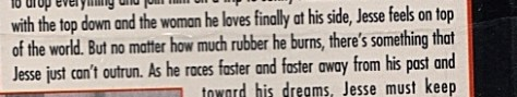 Quote from Orion movie back cover about Jesse running from his past