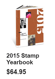 Elvis on 2015 book for stamp collectors
